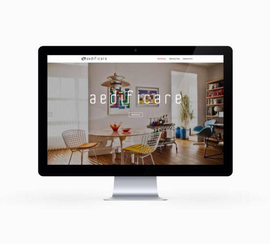 Diseño de página web responsive aedificare