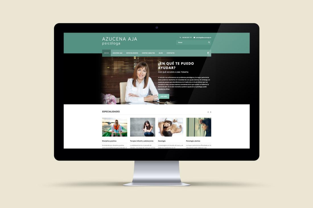 Azucena Aja web responsive